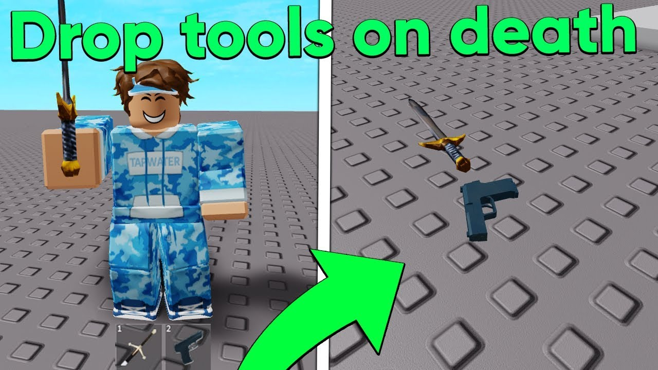 How To Drop Items On Roblox Mobile Youtube How To Make Tools Drop On Death In Roblox Studio Youtube