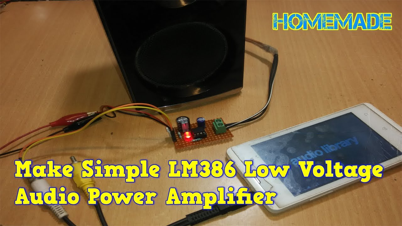 How To Make Lm386 Low Voltage Audio Power Amplifier At Home Youtube Stereo Circuit