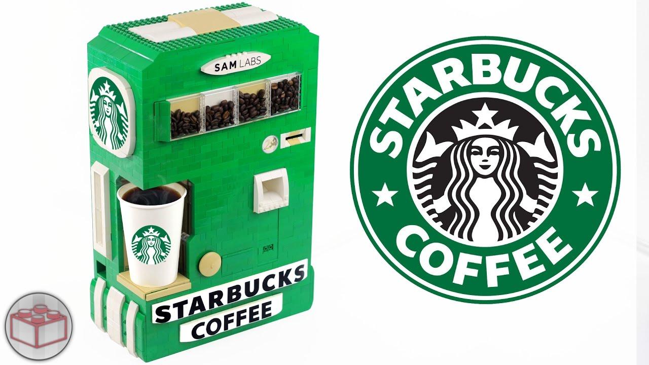 LEGO Starbucks Hot Coffee Maker Machine by AstonishingStudios