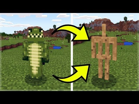 HOW TO TURN YOURSELF INTO AN ARMOR STAND IN MINECRAFT!