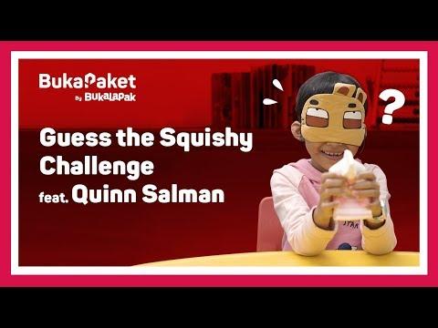 Tebak-tebakan Squishy Challenge feat. Quinn Salman | BukaPaket for Kids