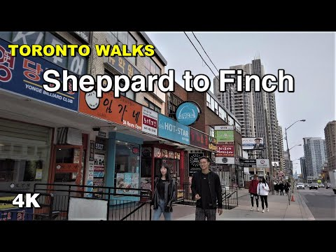 North York Toronto  - Sheppard to Finch along Yonge Street walk [4K]