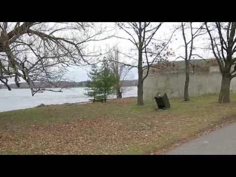 Exploring UFO landing pad like pump house in Ottawa