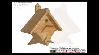 Bh102 - Bird House Plans Construction - Bird House Design - How To Build A Bird House