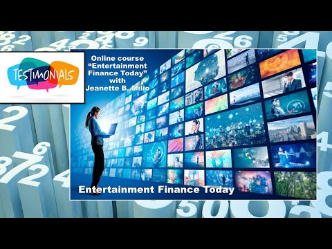 Testimonials:  Entertainment Financing - From First $ to Profit Distribution (UCLA course)
