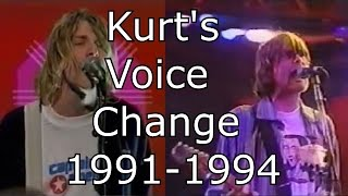 Nirvana - Smells Like Teen Spirit - Kurt's Voice Change 1991-1994 (Live Mix)