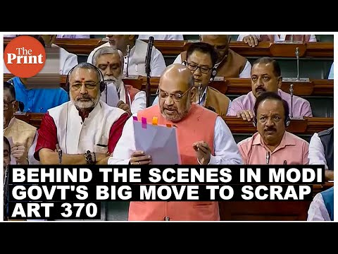 What went behind the scenes in Modi govt's big move to scrap special status for J&K