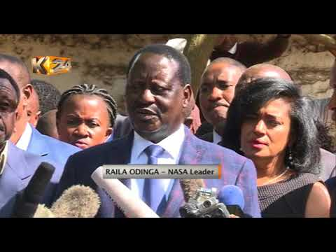 NASA leader Raila Odinga condoles with families of those killed during opposition protests