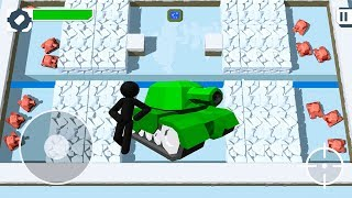 Stickman Tank - Armored Battles NEW Snow Levels / NEW Tanks Game for Kids