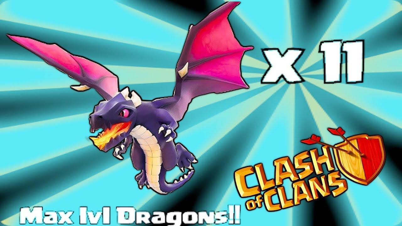 Clash Of Clans  Dragon Raid Gameplay