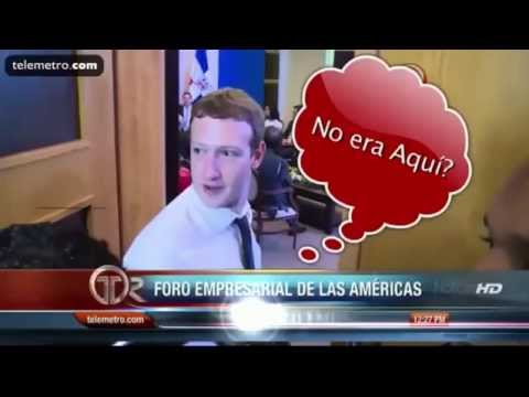 Mark Zuckerberg interrupts private presidential meeting in Panama (with subtitles)