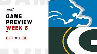 Detroit Lions vs. Green Bay Packers Week 6 NFL Game Preview