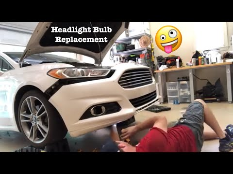 How to Replace Low Beams In a 2012 Ford Fusion with Lasfit