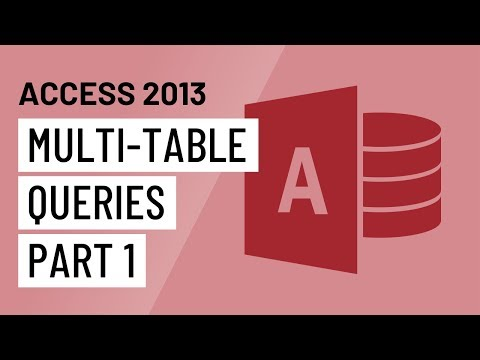 Access 2013: Designing a Multi-Table Query
