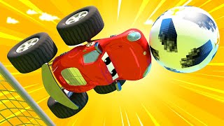Детские мультики с грузовиками Спецвыпуск к Чемпионату Мира по Футболу Кубок Города Монстр Траков