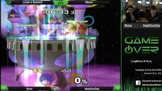 Game Over VI - MattDotZeb (Falco) vs Rime (Peach) - SSBM