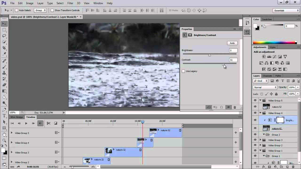 How To Edit Videos In The Timeline In Photoshop Cs6