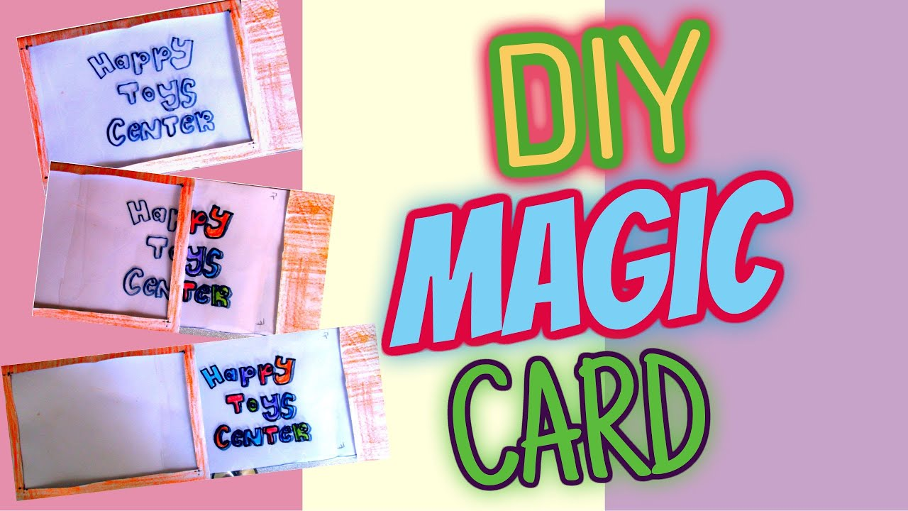Uncategorized Magic For Kids diy amazing magic card easy paper crafts happy toys for kids youtube