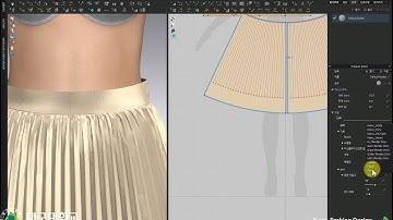 (CLO) (클로) 초급09_아코디언플리츠스커트_3_디자인변형. CLO Basic 09_ Accordion pleated skirt