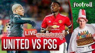 Urodzinowy Live! Manchester United vs PSG (bez widoku meczu) #LigaMistrzów - Na żywo