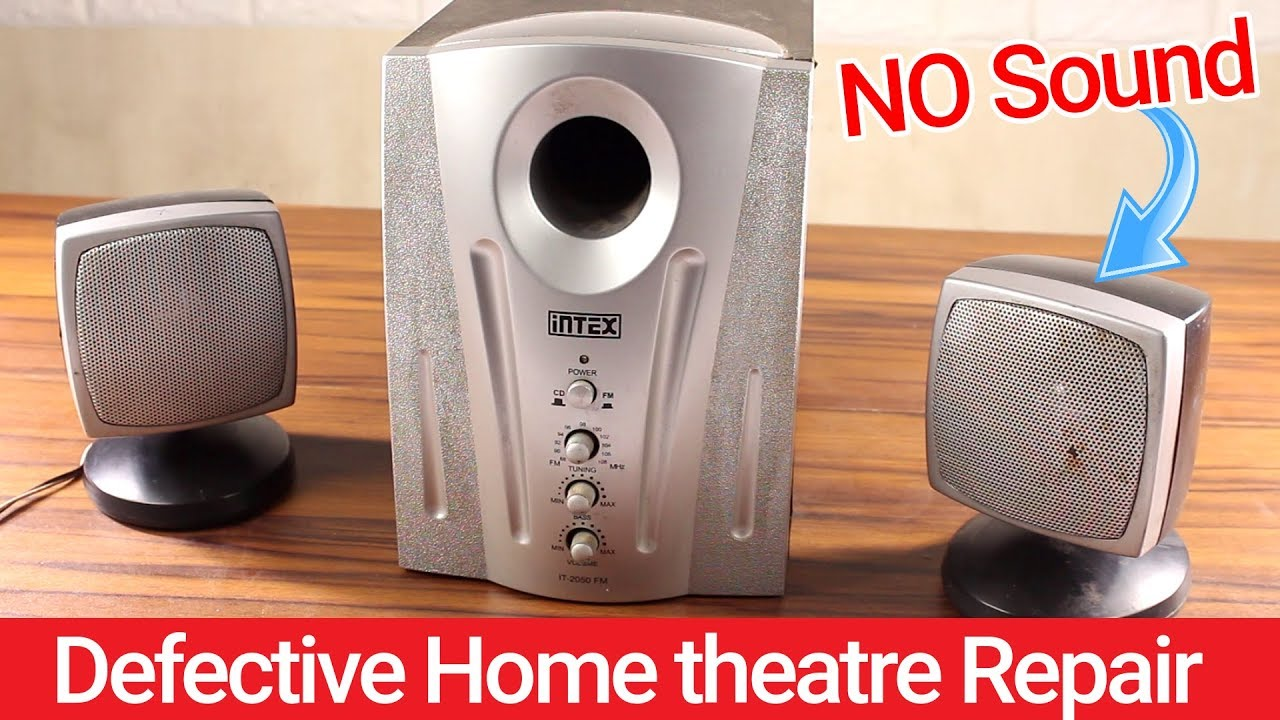 Home theatre Speaker Problem Fix | No Sound On Right Speaker | How To  Repair Home Theatre ?