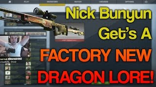 Nick Bunyun Trades $1500 To a KID For a FACTORY NEW DRAGON LORE! (Stream)