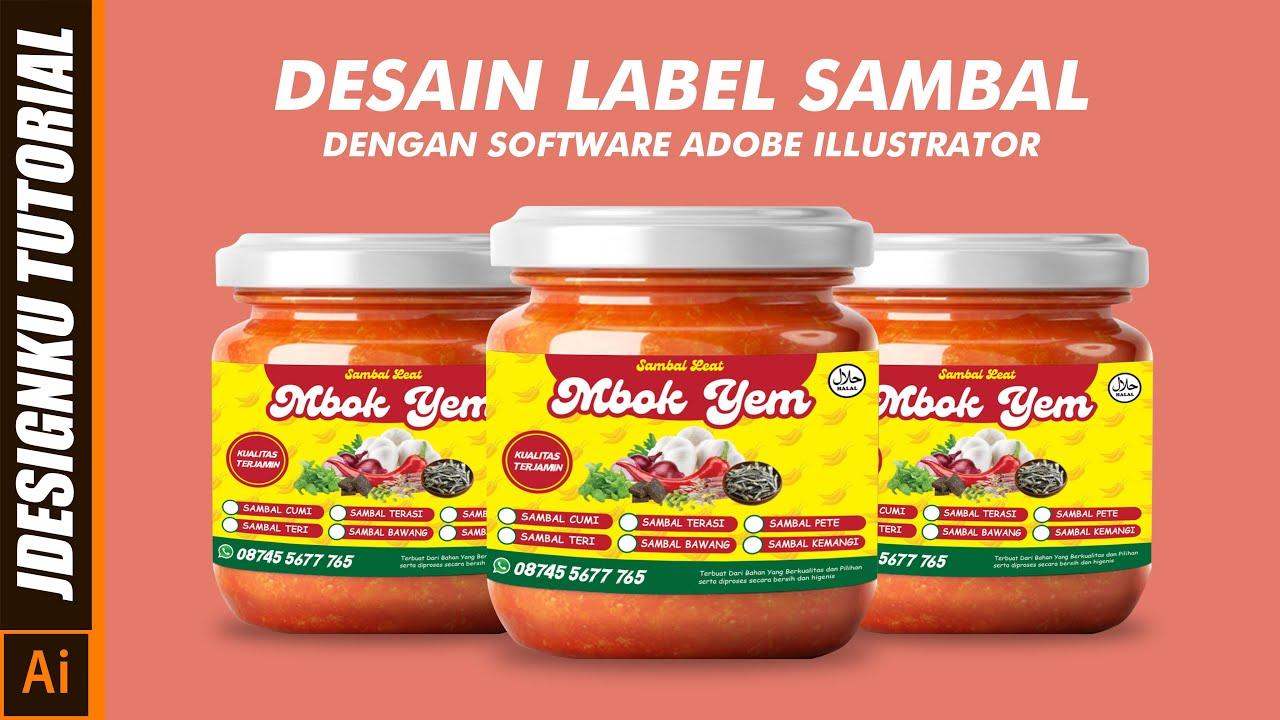 Cara membuat desain label sambal di adobe illustrator