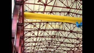 Кран мостовой опорный, тельфер Болгария - испытание(, 2016-02-10T13:22:36.000Z)