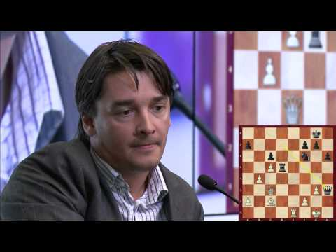 Round 4. Vladimir Kramnik and Alexander Morozevich commenting on their game