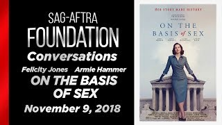 Conversations with Felicity Jones and Armie Hammer of ON THE BASIS OF SEX