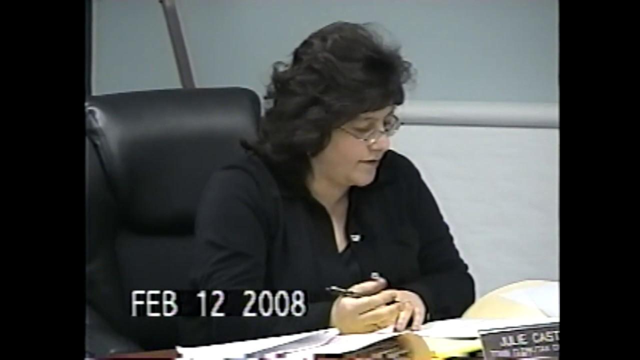 Champlain Town Board Meeting  2-12-08