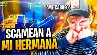 SCAMEAN TO MY HERMANA AND *ME CABREO*! SCAMEO To SCAMER! - Fortnite Save the World