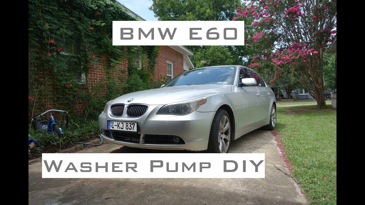 hight resolution of bmw e60 washer pump diy 2004 2010