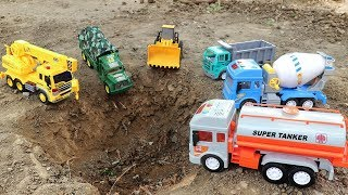 Build Bridge Blocks Toys | Crane Truck ,Dump Truck,Cement Truck,Wheel Loader