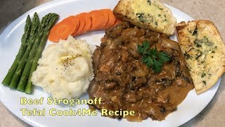 Beef Stroganoff Tefal Cook4Me cheekyricho cooking super easy recipe. Ep.1,205