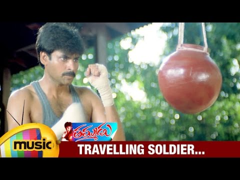 Travelling Soldier Music Video | Thammudu Telugu Movie Songs | Pawan Kalyan | Preeti | Mango Music