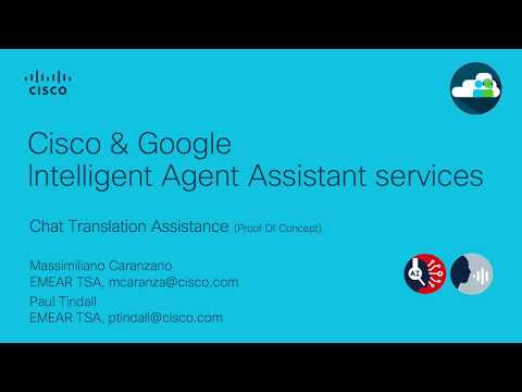 Cisco Artificial Intelligence in Call Centers: Chat Translation Assistance