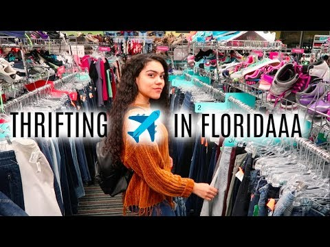 THRIFTING IN FLORIDA + TRY ON   GOODWILL , PLATO'S CLOSET   EP. #10