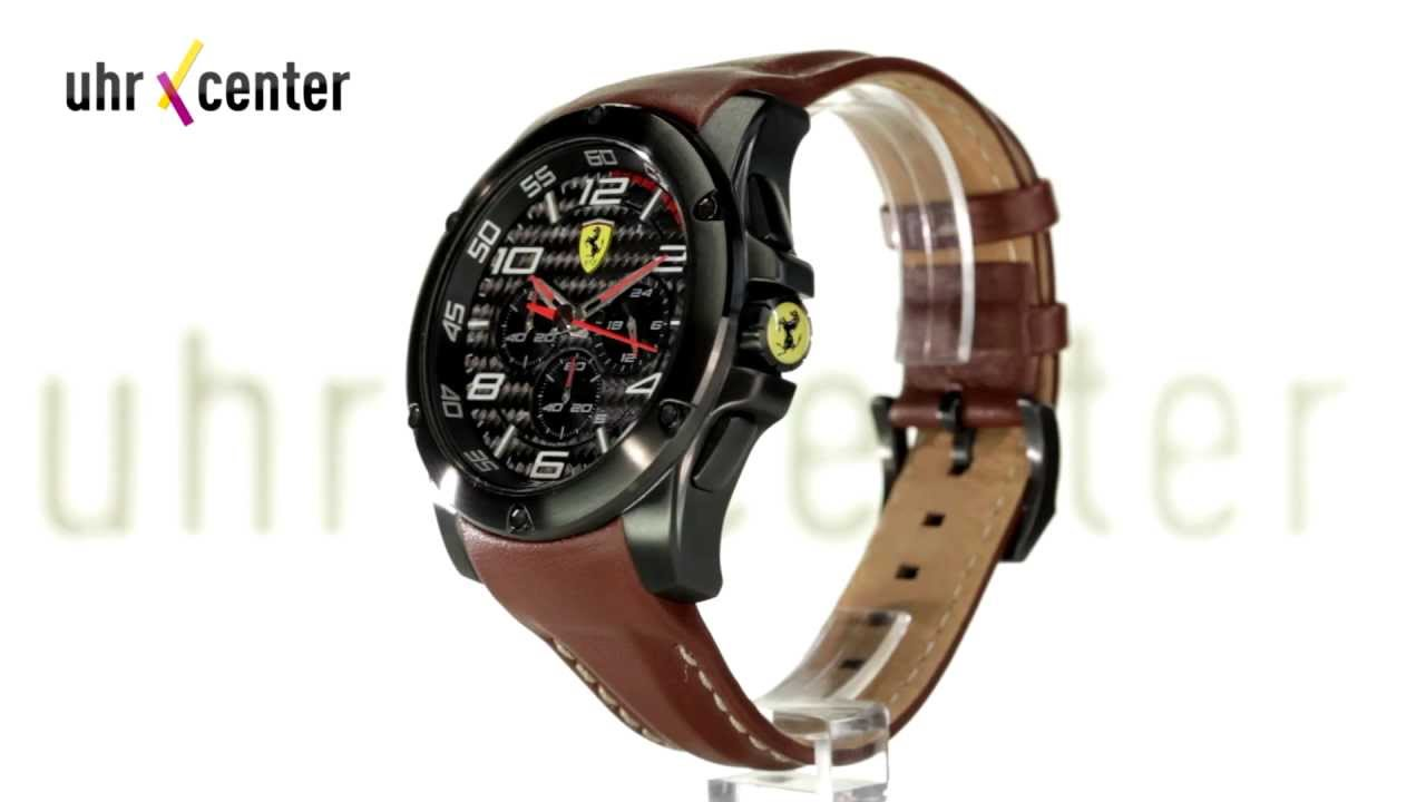 ferrari scuderia 0830029 chronograph herren armbanduhr. Black Bedroom Furniture Sets. Home Design Ideas