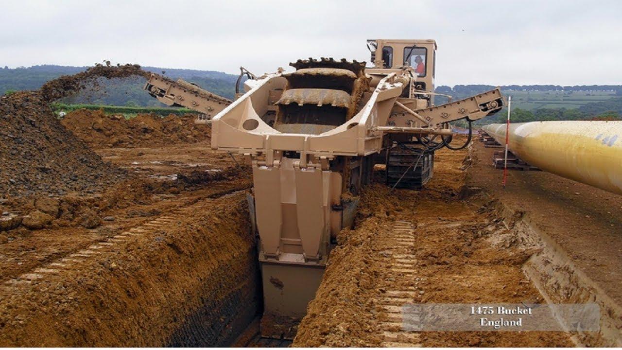 Trenching Machines Working : Extreme heavy excavator working fastest skill mega