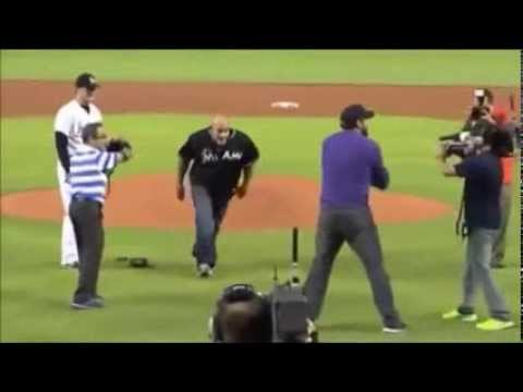 Bill Goldberg spears the catcher in a baseball game Travel Video