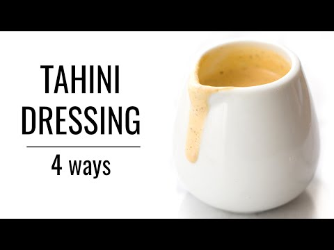 TAHINI DRESSING: 4 WAYS | Healthy Salad Dressings | #SALADWEEK
