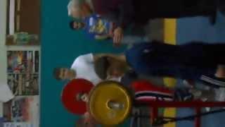 Первые соревнования (универсиада 2014 г. приседания 150 кг)