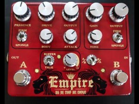 Big Joe Stomp Box Company Empire Overdrive Demo Video by Shawn Tubbs