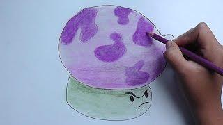 Como dibujar a Humoseta (Plantas vs Zombies) - How to draw a Humoseta