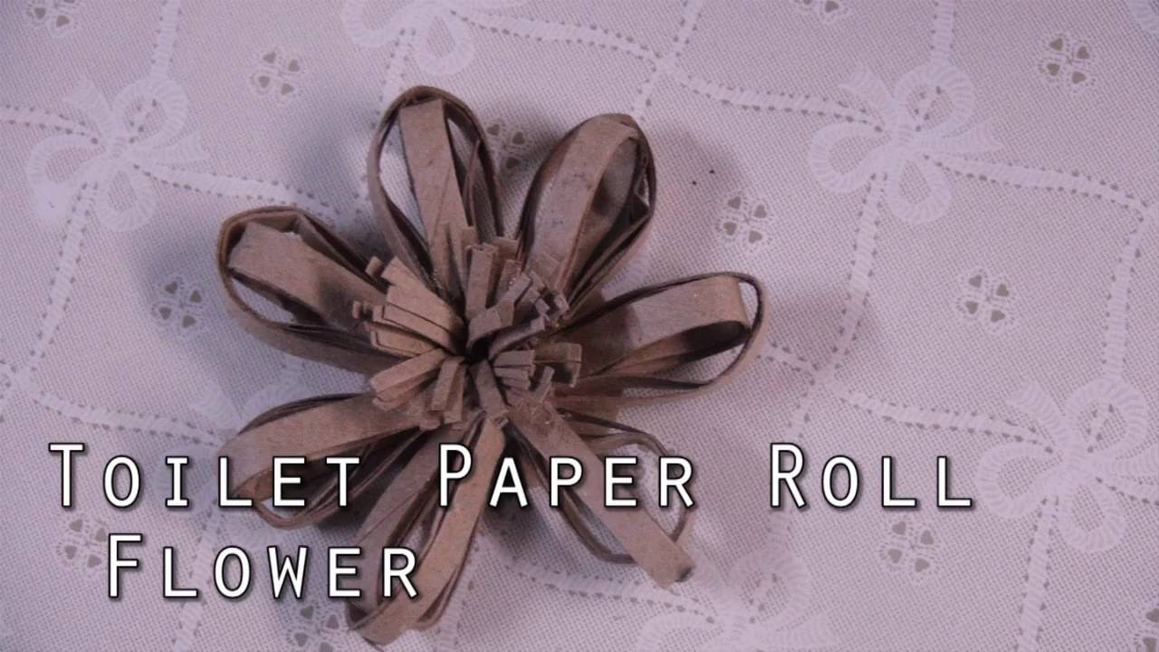 Toilet Paper Roll Flower Recycling Diy Youtube