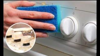 видео Как очистить ручки у плиты от грязи и жира