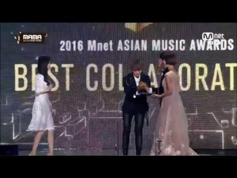 [HD] [161202] 2016 MAMA In Hong Kong    EXO Baekhyun & Miss A Suzy - Best Collaboration Award 最佳合作奖