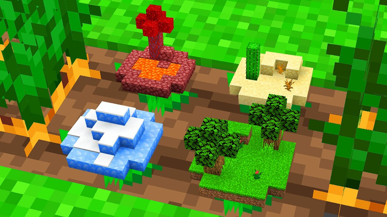 Minecraft BUT You Can GROW BIOMES!