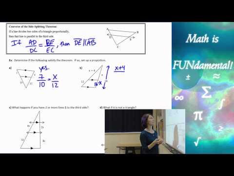 7.5 Geometry - The Side Splitting Theorem
